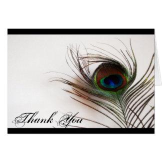 Pfau-Feder-Glamour danken Ihnen Karte