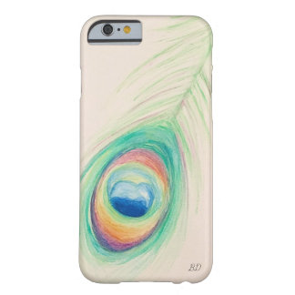 Pfau-Feder-Handy-Fall Barely There iPhone 6 Hülle