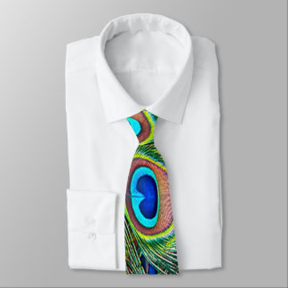 Pfau-Feder-Kaleidoskop-Druck Personalisierte Krawatte