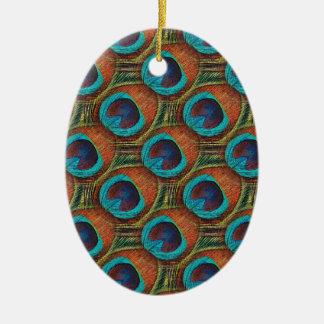 Pfau-Feder-Muster Keramik Ornament