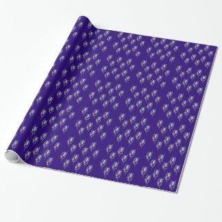 Pfau-Federn entwerfen köstliches Blau Geschenkpapier