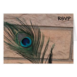 Pfau-Federn und Ziegelsteine, die UAWG Wedding Karte