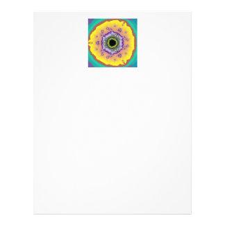 Pfau-Fraktal-Gelb lila Individuelle Flyer