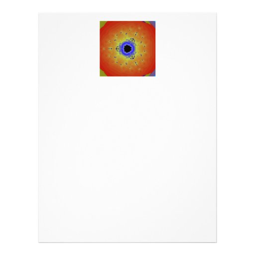 Pfau-Fraktalmandala-orange Gelb Custom Flyer