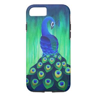 Pfau in blauem und grünem iphone Kasten iPhone 8/7 Hülle