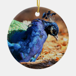 Pfau Keramik Ornament