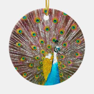 Pfau Keramik Ornament