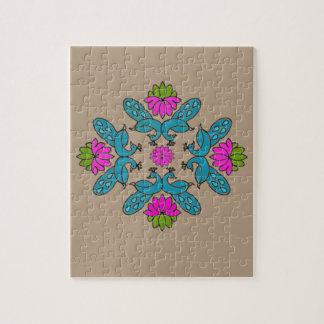 Pfau Lotus Rangoli Puzzle