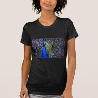 Pfau-nahes hohes T-Shirt