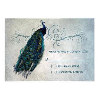 Pfau-Rolle UAWG Personalisierte Einladungskarten