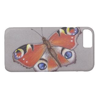 Pfau-Schmetterling iphone 7 Abdeckung iPhone 8/7 Hülle