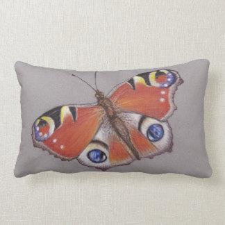 Pfau-Schmetterlinglumbar-Kissen Lendenkissen
