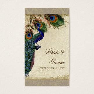 Pfau-u. Feder-formale Gastgeschenk Visitenkarte