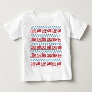 Pfau und Blumen Baby T-shirt