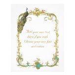 Pfau und französisches barockes goldenes Rahmen-Br Bedruckte Flyer