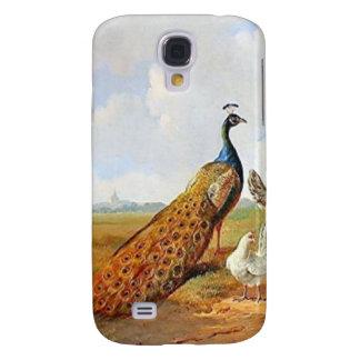 Pfau-und Hühner iPhone3 Fall Galaxy S4 Hülle