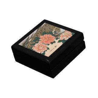 Pfau und Pfingstrosen durch Hiroshige, japanische Geschenkbox