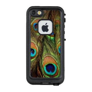 Pfau versieht Apple iPhone Kasten mit Federn LifeProof FRÄ' iPhone SE/5/5s Hülle