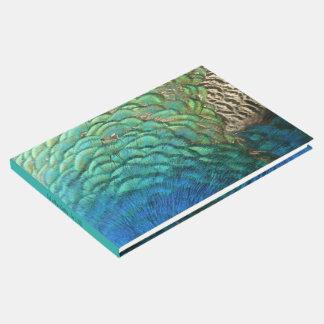 Pfau versieht bunten abstrakten Natur-Entwurf I Gästebuch