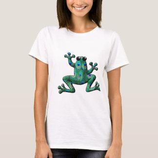 Pfau versieht Frösche mit Federn T-Shirt