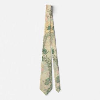 Pfau-Vogel-Feder-Blumen-Tier-Krawatte Bedruckte Krawatten