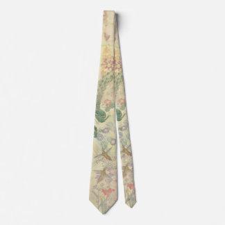 Pfau-Vogel-Feder-Blumen-Tier-Krawatte Krawatte
