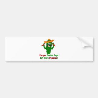 Pfeffer-Kaktus sagt essen mehr Paprikaschoten Autoaufkleber