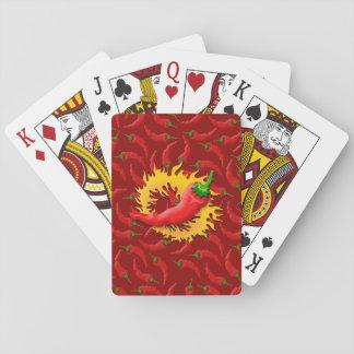 Pfeffer mit Flamme Spielkarten