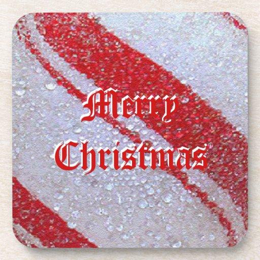 Pfefferminz-frohe Weihnacht-Korken-Untersetzer