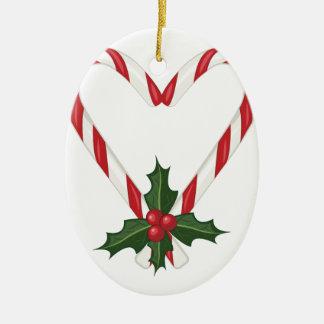 Pfefferminz-Herz Keramik Ornament