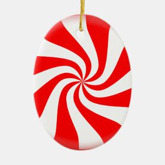Pfefferminz-Süßigkeit Keramik Ornament