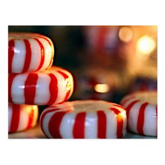 Pfefferminz-Süßigkeit Postkarte