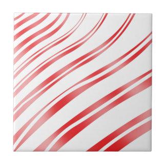 Pfefferminz-Süßigkeits-Streifen Keramikkachel