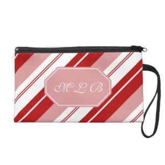 Pfefferminz-Süßigkeits-Streifen Wristlet Handtasche