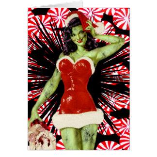 Pfefferminz-Zombie-Weihnachtskarte Karte