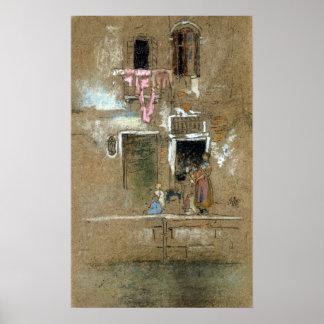 Pfeifer-Anmerkung James McNeill im Rosa und in Poster