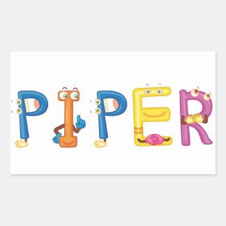Pfeifer-Aufkleber Rechteckiger Aufkleber