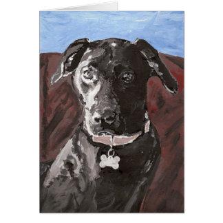 Pfeifer, ein schwarzer Labrador Karte