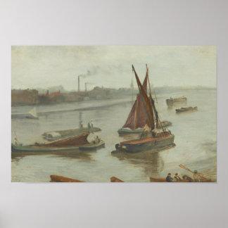 Pfeifer James Abbott McNeill - Grau und Silber Poster