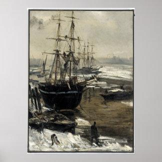 Pfeifer James McNeill die Themse im Eis Poster