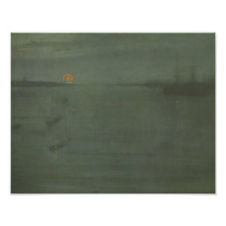 Pfeifer James McNeill - Notturno-Blau und Gold Poster