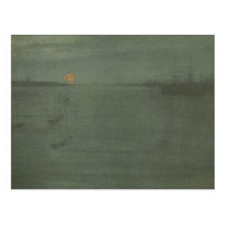 Pfeifer James McNeill - Notturno-Blau und Gold Postkarte