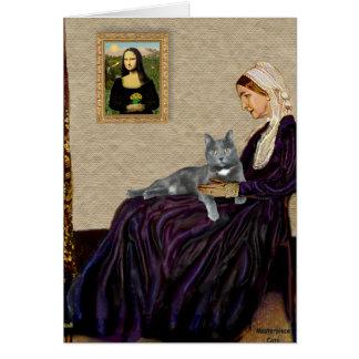 Pfeifer-Mutter - graue Katze Karte
