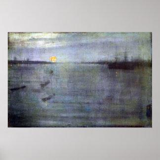 Pfeifer-Notturno James McNeil im Blau und im Gold Poster