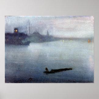 Pfeifer-Notturno James McNeill im Blau und im Poster