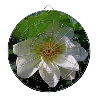 Pfeil-Brett mit empfindlicher weißer Lotos-Blume Dartscheibe