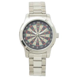 Pfeil-Dreiergruppe zwanzig, große silberne Armbanduhr