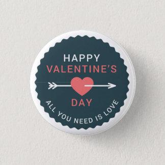 Pfeil-Herz-glücklicher Valentinstag Runder Button 2,5 Cm