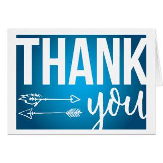 Pfeile danken Ihnen zu kardieren (dunkelblau) Karte