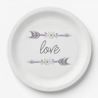 Pfeile der Liebe-Platte Pappteller